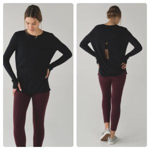 Lululemon Bring It Backbend Sweater Black